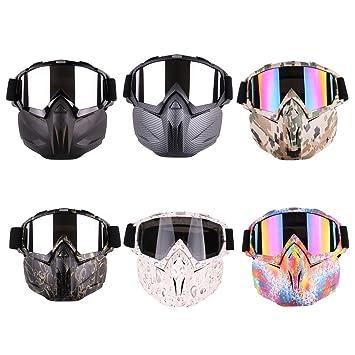 Máscara de esquí para casco de motocicleta, gafas tácticas con máscara desmontable para moto de