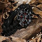 Survie paracord Bracelet de survie d'urgence, Hommes & Femmes horloge avec/Sifflet/Allume-feu/grattoir/Boussole et… 8