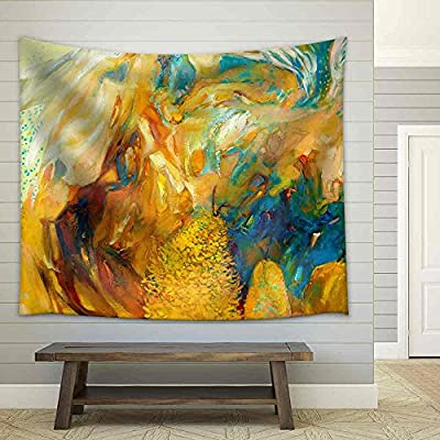 Incredible Expert Craftsmanship, Original Abstract Oil Painting Impressionism Fabric Wall, Made With Love