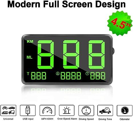 Universal GPS HUD Digital Head Up Display Car Truck Speedometer Speed Warning
