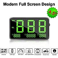 VJOYCAR C80 Universal Hud Head Up Display GPS Digital Speedometer for Cars with MPH with Odometer Speedo Fatigue Alert…