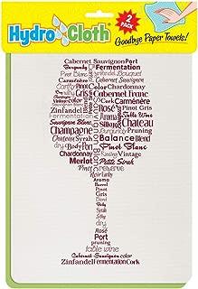 "product image for Fiddler's Elbow Wine Words"" | Eco-Friendly Sponge Cloths | Reusable Swedish Dish Cloths | Set of 2 Printed Sponge Cloths| Kitchen, Bath, auto | Replaces 30 Rolls of Paper Towels"