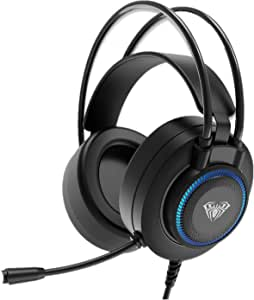 AULA S601 Auriculares Para Juegos Con Cable Y MicróFono Sonido Envolvente, USB Dual 3.5mm Control De Volumen En La Oreja Audífonos, CancelacióN Ruido Hd MIC PC Computadora Headset