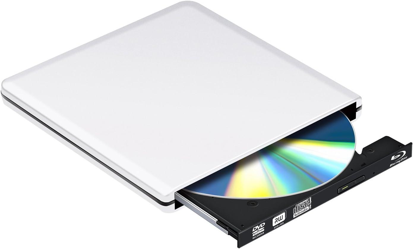 Bluray Grabador Externo Lector DVD 3D 4 K, USB 3.0 BLU-Ray ...