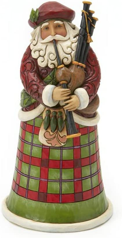 Enesco INJim Jim Shore Heartwood Creek Scottish Santa Figurine 6.75 in