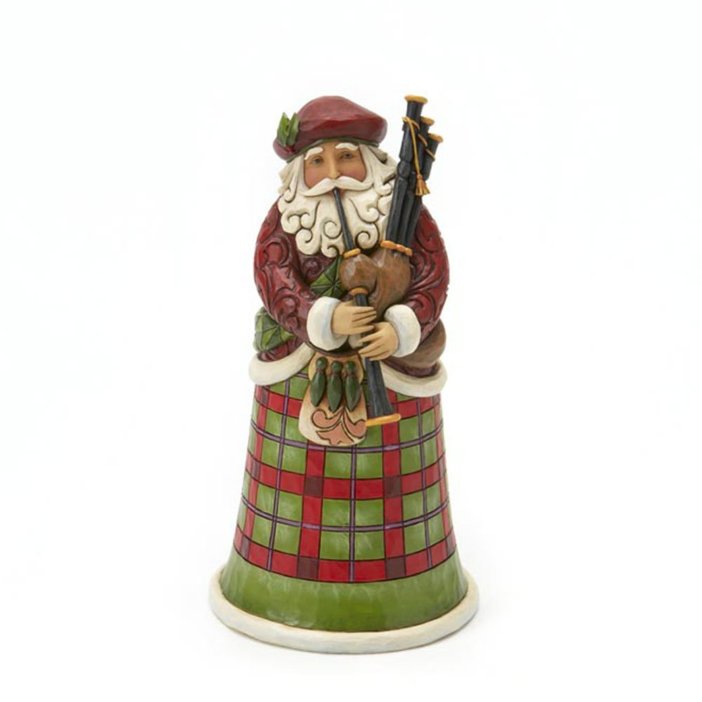 Enesco Jim Shore Heartwood Creek from Scottish Santa Figurine 6.75 IN
