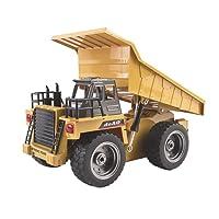 deAO RC Camion di Costruzione Radiocomandato 2.4GHz Sync System per Modalità Multi Giocatore (Camion Ribaltabile)