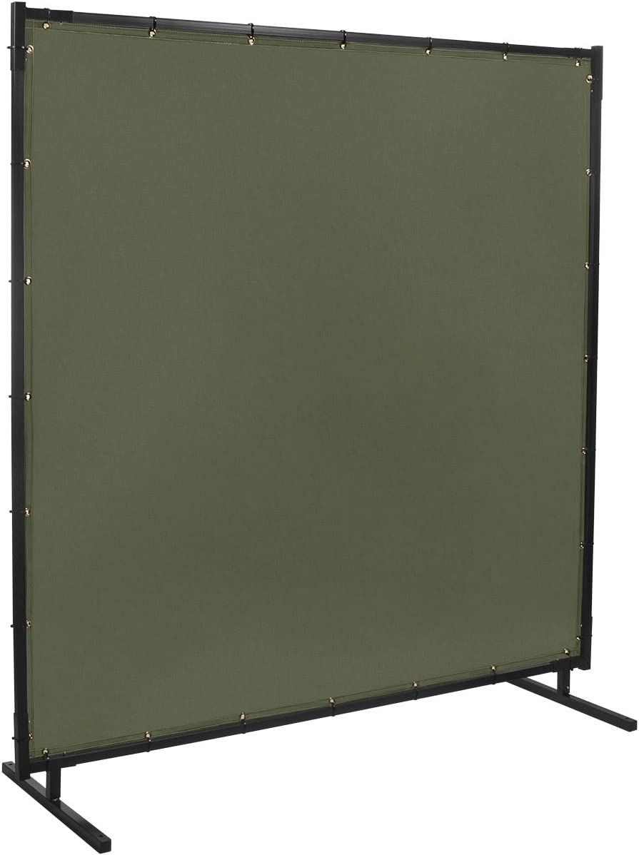 Duck Olive Green 5 x 6 Steiner 501HD-5X6 Protect-O-Screen HD Welding Screen with Flame Retardant 12-Ounce Canvas Curtain
