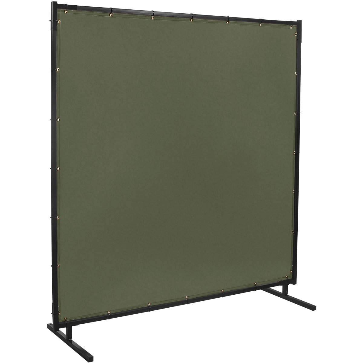 Steiner 501HD-6X10 Protect-O-Screen HD Welding Screen with Flame Retardant 12-Ounce Canvas Curtain, Duck Olive Green, 6' x 10'