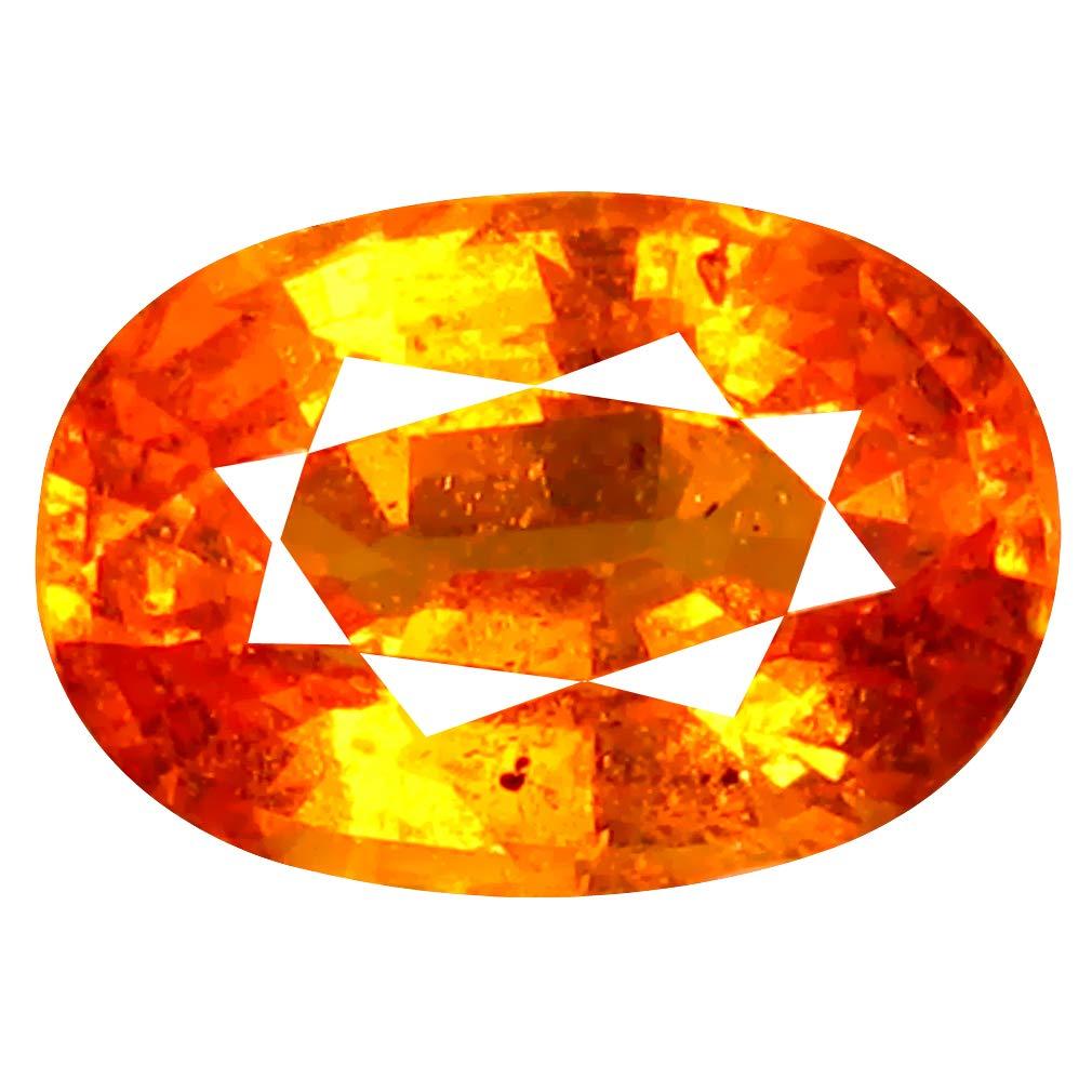 スペサティンガーネット ルースストーン 2.07 ct AAA+ Oval Shape (9 x 6 mm) Unheated/Untreated Fanta Orange Tanzanian Spessartine Garnet Natural Loose Gemstone   B07NJQQ3GM
