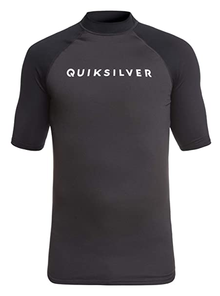 Sun Protection Quiksilver Mens Always There Short Sleeve Rashguard UPF 50