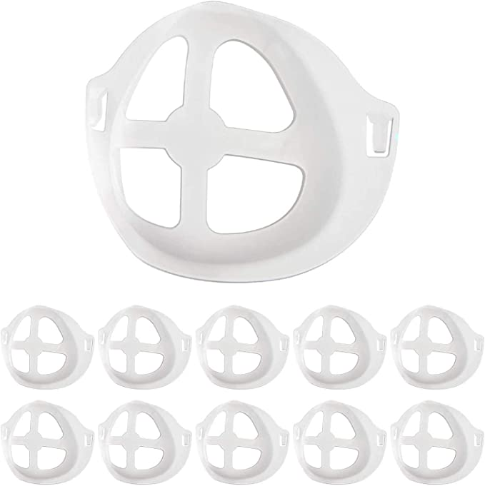 Mask 3D Bracket, 10 Pack plastic Face Mask Inner Support Frame, Breathing Mouth and Nose Protection Lipstick Increase Breathing Space Help Breathe Smoothly - - Amazon.com