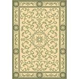 Cheap Safavieh Courtyard Collection CY2829-1E01 Natural and Olive Indoor/Outdoor Area Rug (5'3″ x 7'7″)