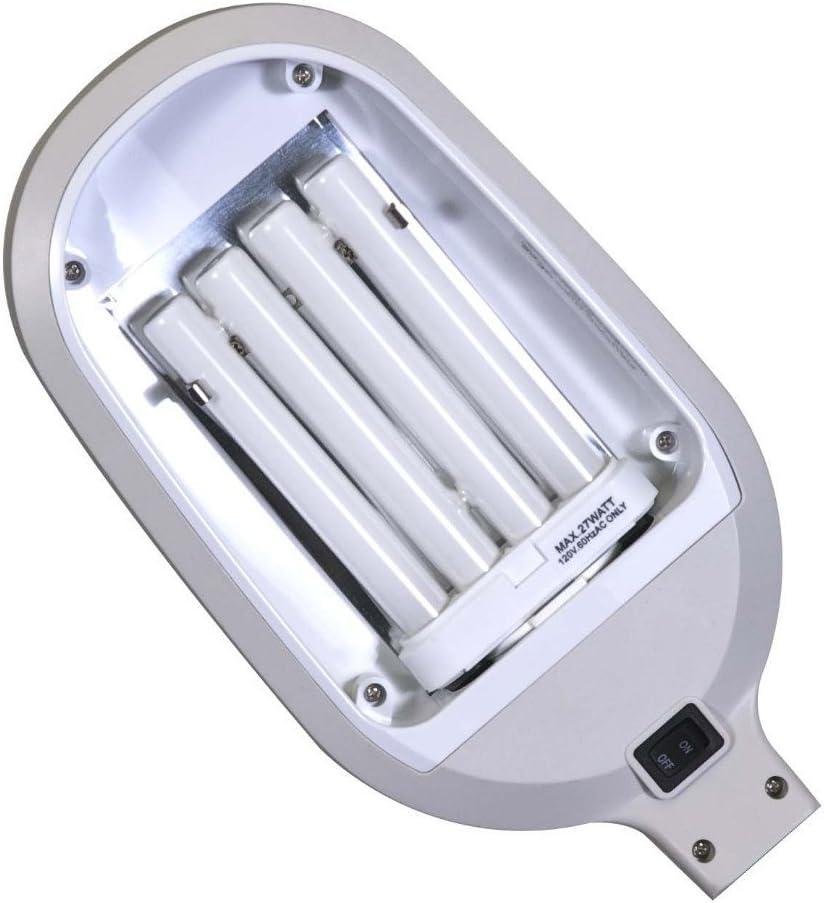 Spectrum LED of Fluorescent Sunlight Office Home Reading Floor New Lamp Brush Nickel Sliver Color 5 Feet