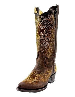 University of Wyoming Ladies Leather Boots