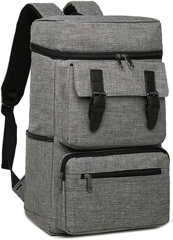 Color : Gray JIANGXIUQIN Backpack for Men Laptop Backpack for 15 Inch Laptop with Waterproof Nylon for Men and Women Casual Laptop Bag for College Travel Hiking