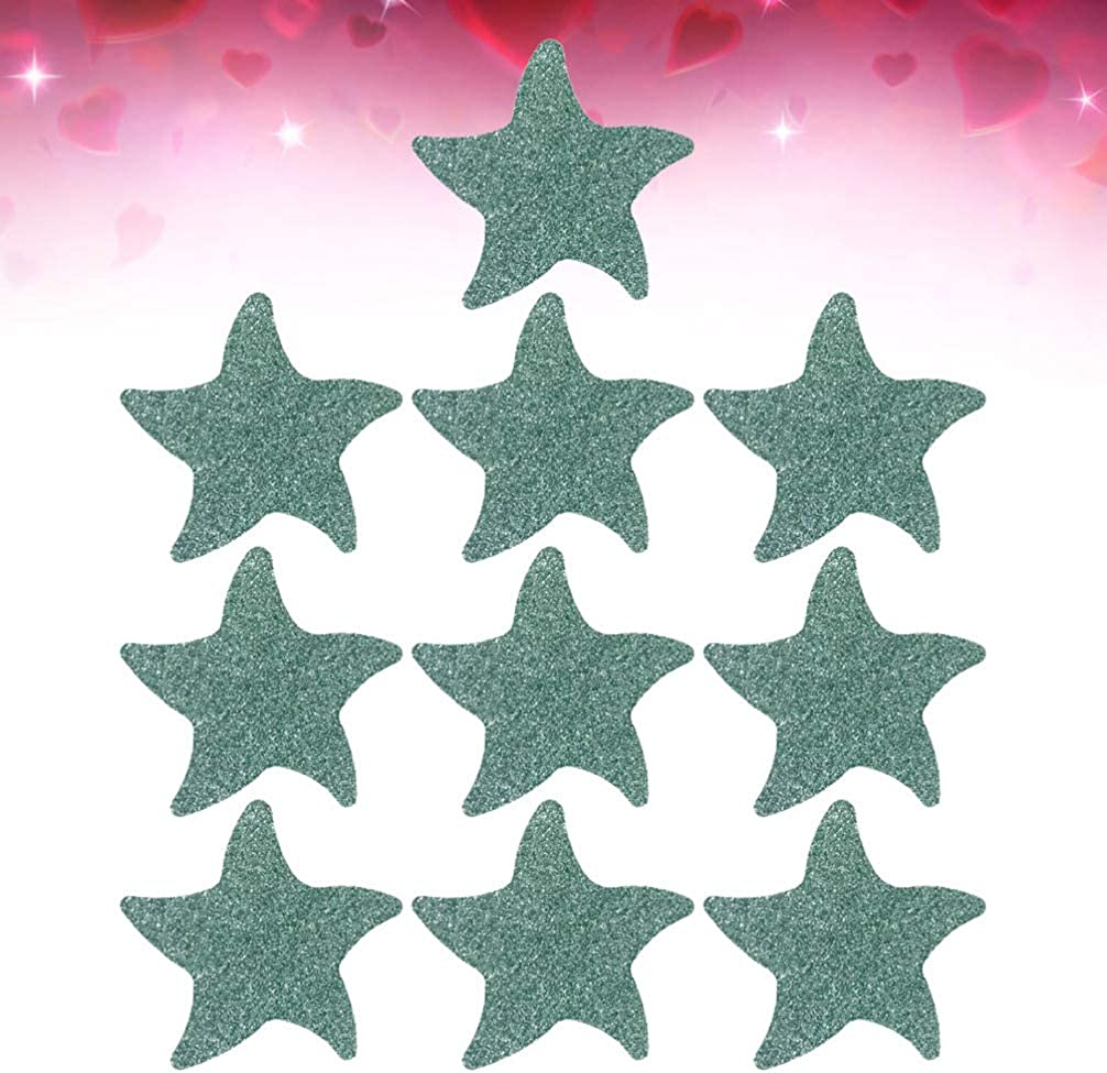 Amosfun Disposable Breast Petals Star Shaped Nipple Cover Breast Pasties 10 Pairs Blue