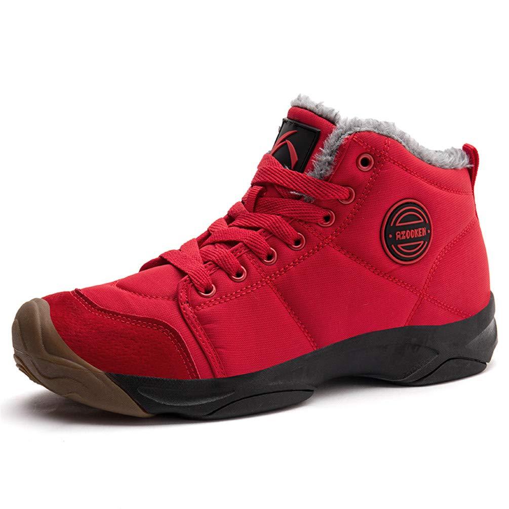 Axcone Homme Femme Bottes Hiver Neige Chaudement Chaudes Fourrure Baskets Bottines - Gris Rouge Marron Cyan Noir Rose 36-46EU