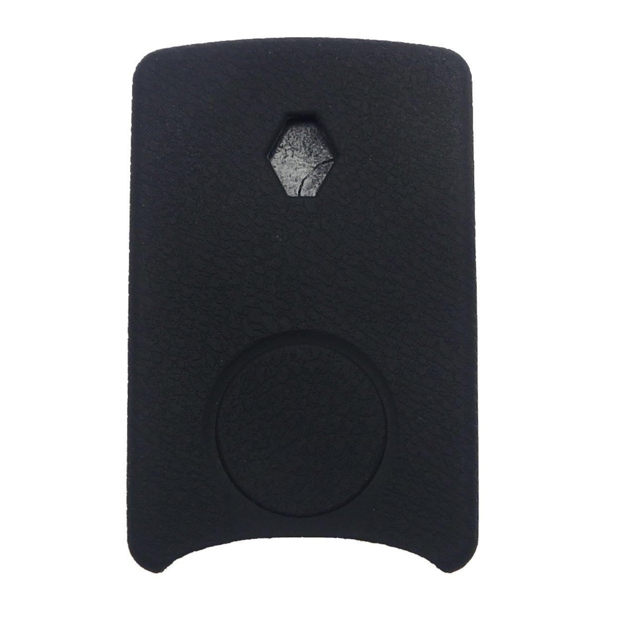 para Renault Laguna con sistema de acceso sin llave Megane Koleos Funda de mando de silicona Coolbestda para llave de coche formato tarjeta negro 4 botones