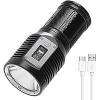LED Spotlight, Type-C oplaadbare mini-zaklamp, 500 meter lange gooien super heldere zaklamp, 3000 hoge lumen zoeklicht…