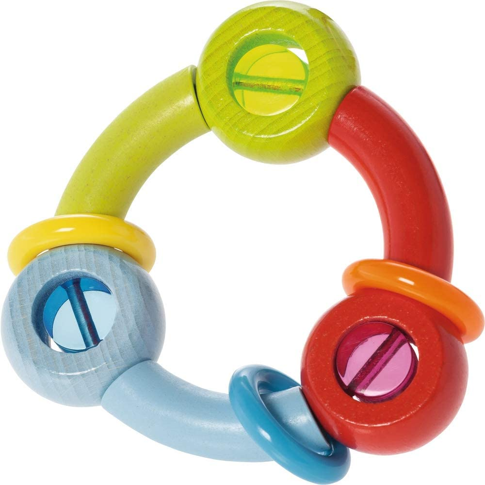 Made in Germany HABA Kringelring Baby Rattle /& Clutching Toy
