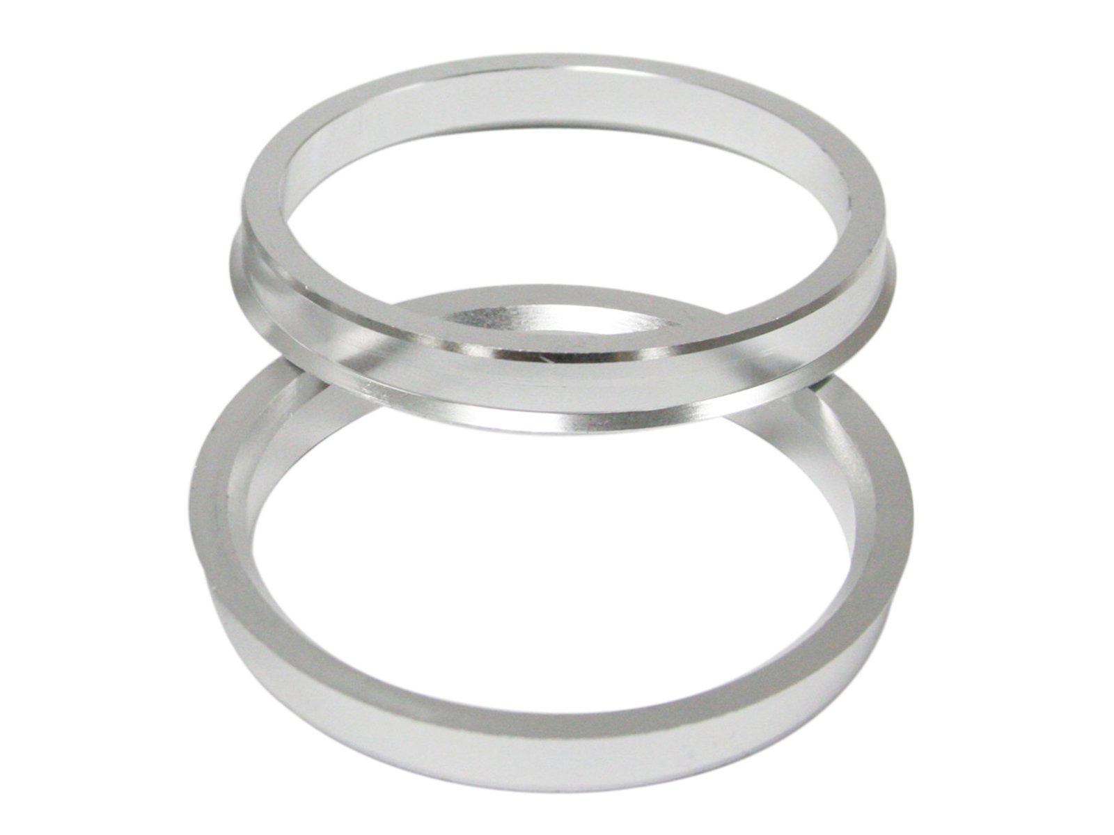 Hubcentric Rings (Pack of 4) - 67.1mm ID to 73.1mm OD - Silver Aluminum Hubrings - Only Fits 67.1mm Vehicle Hub & 73.1mm Wheel Centerbore - for many Mitsubishi Mazda Kia Hyundai by Precision European Motorwerks (Image #6)
