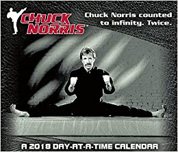 chuck norris 2018 day at a time box calendar