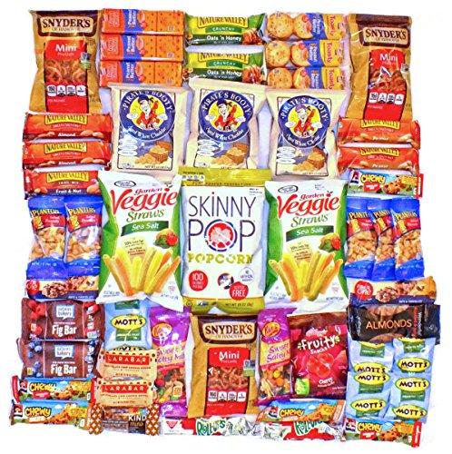 Healthy Snack Pack Variety Assortment Care Package Cookies Granola Kind Bars Larabar Natural Bulk Sampler Bars Snacks (50 Count) by Bundle Bits
