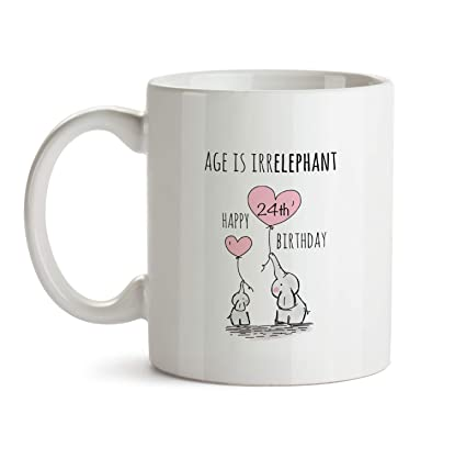 24th Happy Birthday Gift Mug