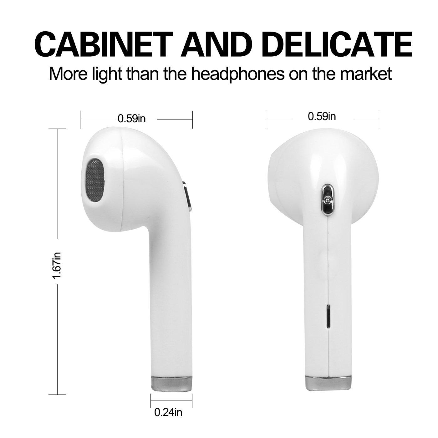 Auriculares inalámbricos,Globalcorona 1 auricular mini Bluetooth inalámbrico,manos libres inalámbricos con micrófono para iPhone 8 x 7 6, Samsung,Huawei ...