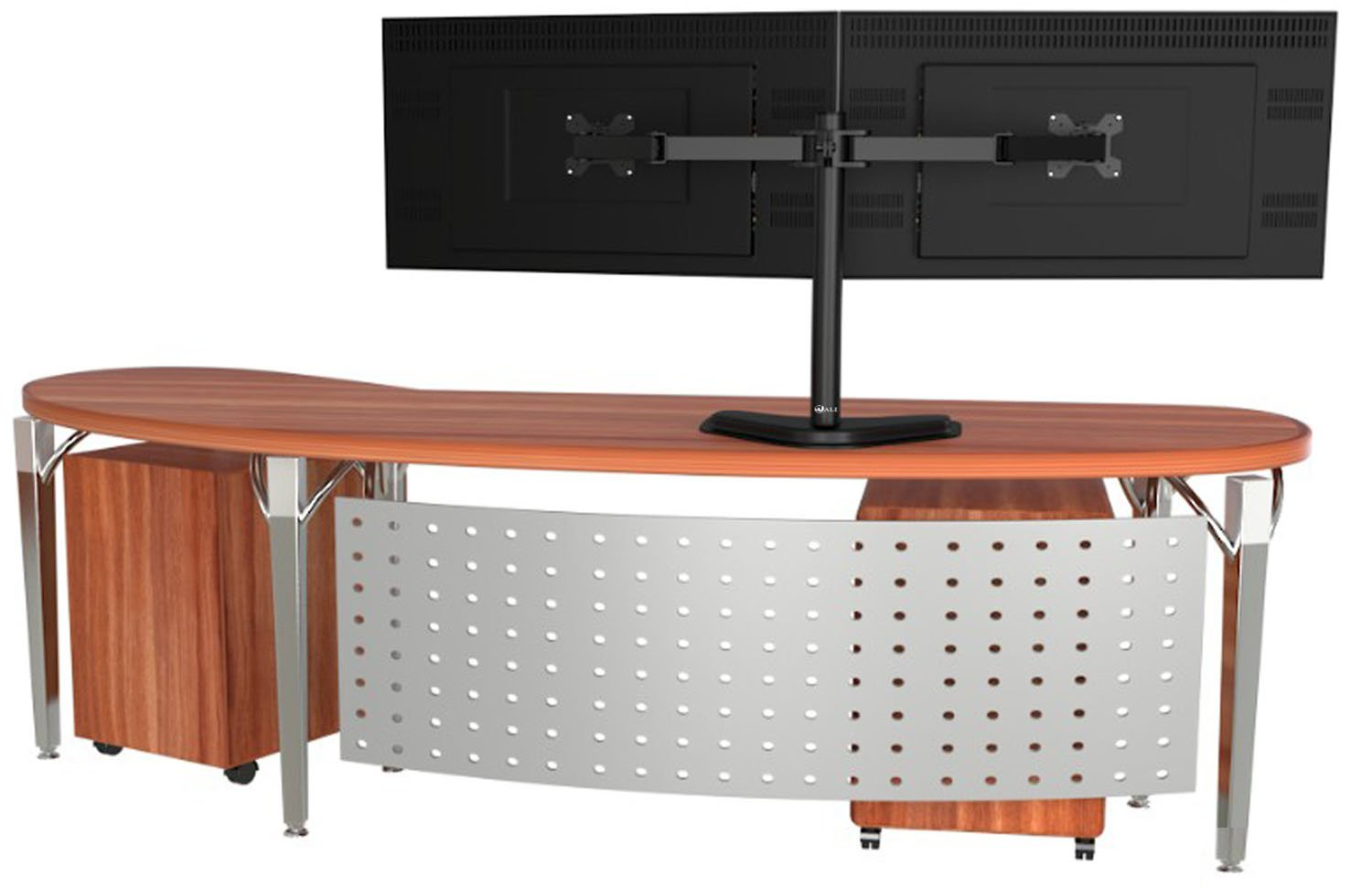 Wali Free Standing Dual Lcd Monitor Desk Mount Fully