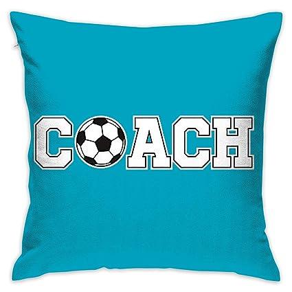 Amazon.com: Create Magic - Soccer Coach Throw Pillow Covers ...