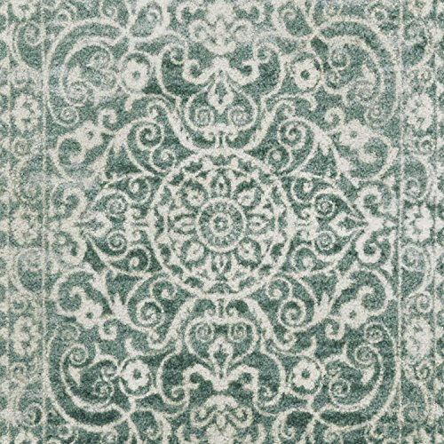 Maples Rugs Kitchen Rug - Pelham 2'6 x 3'10 Non Skid Small Accent Throw Rugs [Made in USA] for Entryway and Bedroom, Light Spa by Maples Rugs (Image #4)