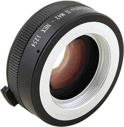 Zhongyi Mitakon Turbo II Focal Reducer Booster Adapter M42 Lens to Sony-E NEX Camera