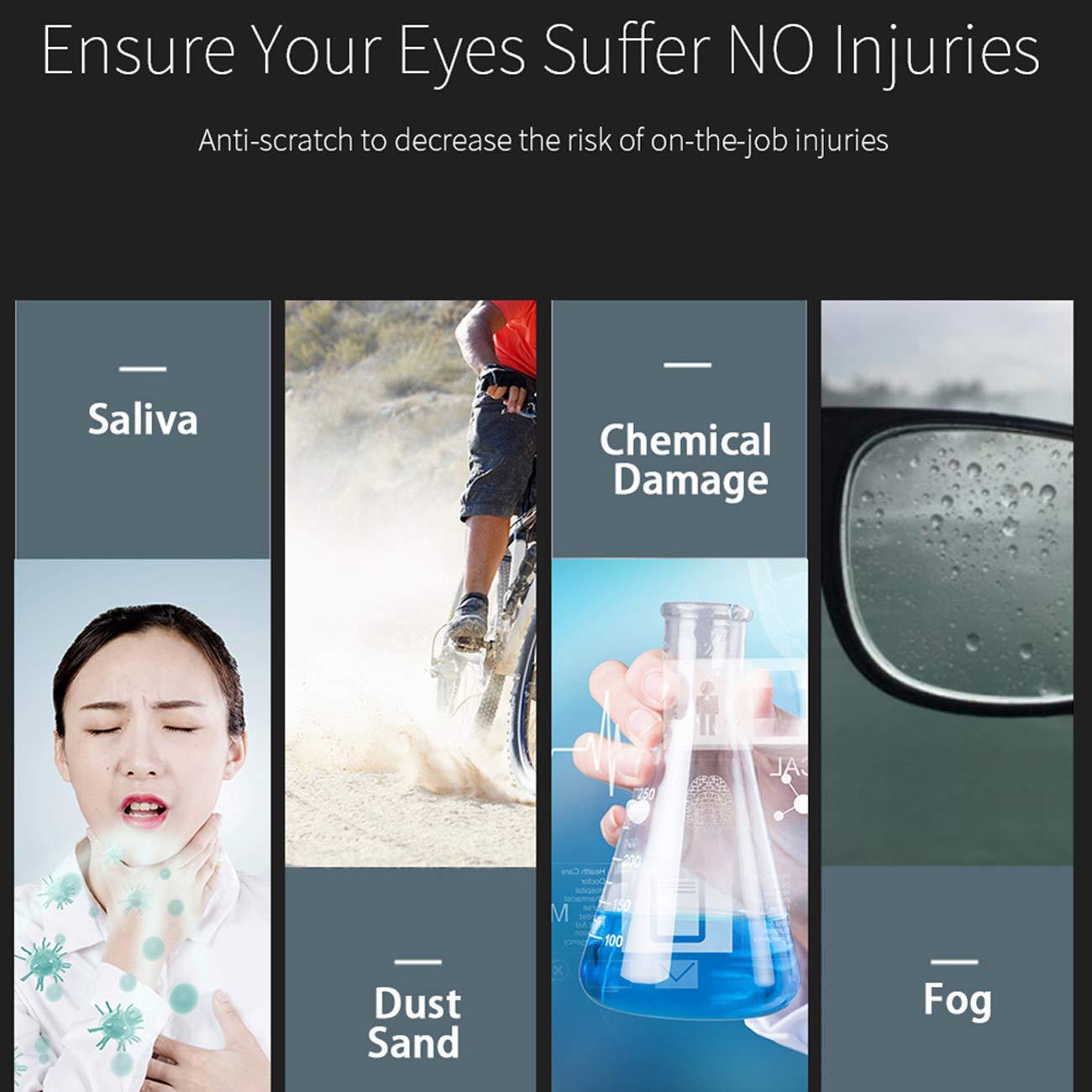 Agricultura Gafas de Protecci/ón,Cubregafas Protectoras Industria Lentes Antivaho Resistentes a Salpicaduras para Laboratorio