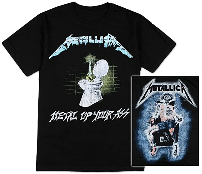 Générique Metallica - -Metal Up Your Ass - Camiseta: Amazon.es: Ropa y accesorios
