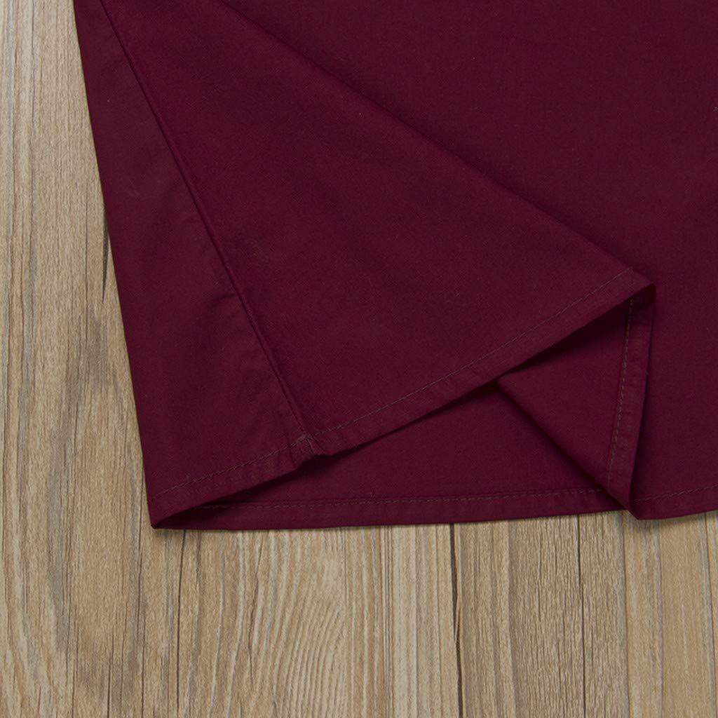 TriLance Robe de B/éb/é Fille Robe Chic Voler Manches Et/é Printemps Cadeau de la F/ête des Enfants Cadeau dAnniversaire Infantile b/éb/é Filles Robe Arc Solide des Robes de v/êtements rose, 3-6 mois