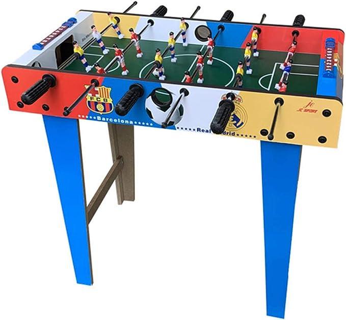 Fútbol de la Tabla Fútbol de Madera Mesa de Juguete de la diversión de Fútbol Set de 27 sobre encimera con 6 palancas de Mando Usados para Entretenimiento Familiar: Amazon.es: Deportes