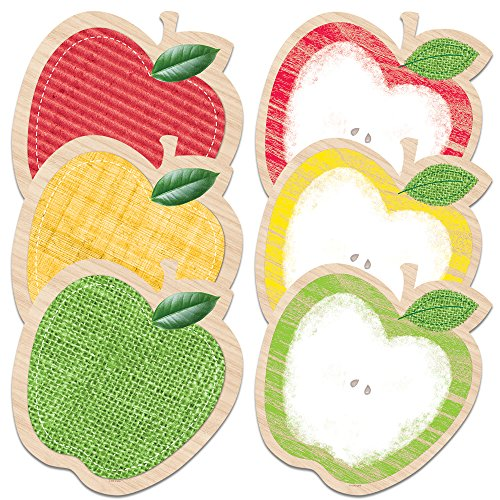 "Creative Teaching Press Upcycle Style Apples 10"" Jumbo Designer Cut-Outs (7046)"