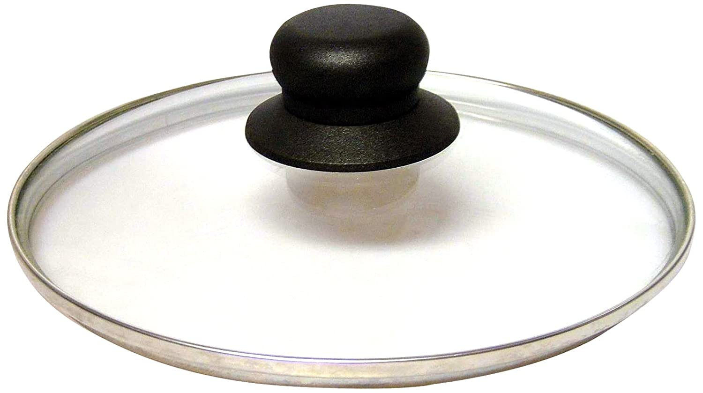 Baumalu 383712 borde de acero inoxidable Tapa de cristal 18 cm