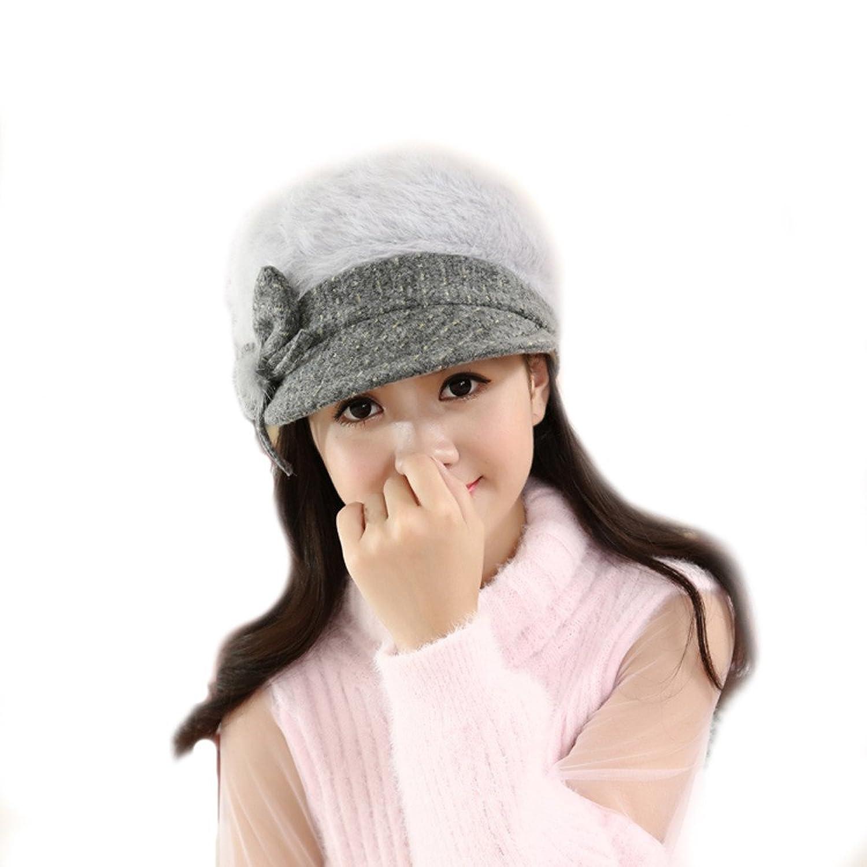 DEESEE Beanie Hat Women Lady Winter Warm Crochet Knitted Cap
