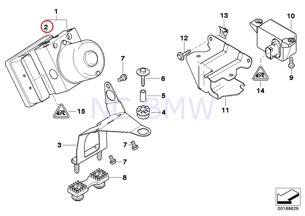 BMW Genuine Control Unit Dsc Repair Kit by BMW