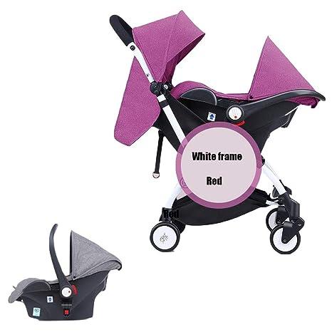 Carro de bebé plegable con cesto de seguridad con una mano ...
