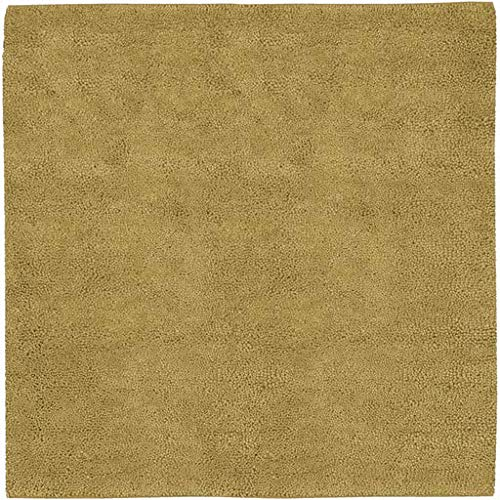 (Bovard Shag Plush Solid 8' Square Square Shag 100% Wool - Felted Tan Area Rug )