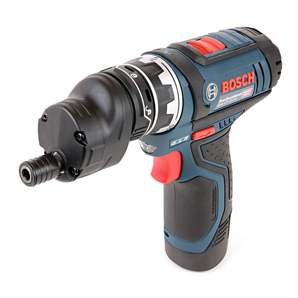 L-Boxx Bosch Professional GSR 12V-15 FC Cordless Drill Driver Set with Two 12 V 2.0 Ah Lithium-Ion Batteries