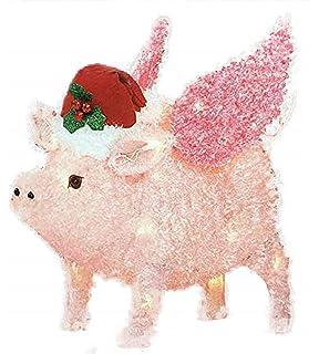 Amazon.com: 3.5 ft copo de nieve Pig w/gorro de Papá Noel ...