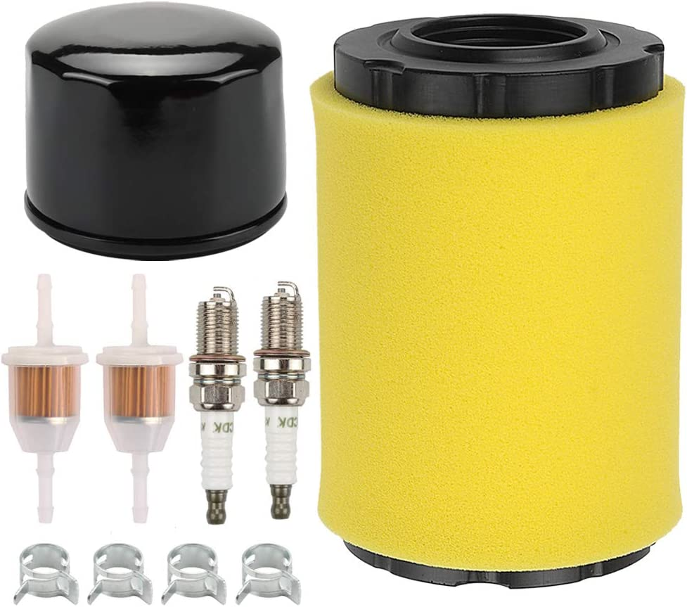 Fuel Li 796031 Air Filter with 696854 Oil Filter Kit for Briggs & Stratton 591334 594201 797704 491056 795890 492056 492932 492932B 492932S 695396 842921 John Deere GY21435 MIU13038 Lawn Mover