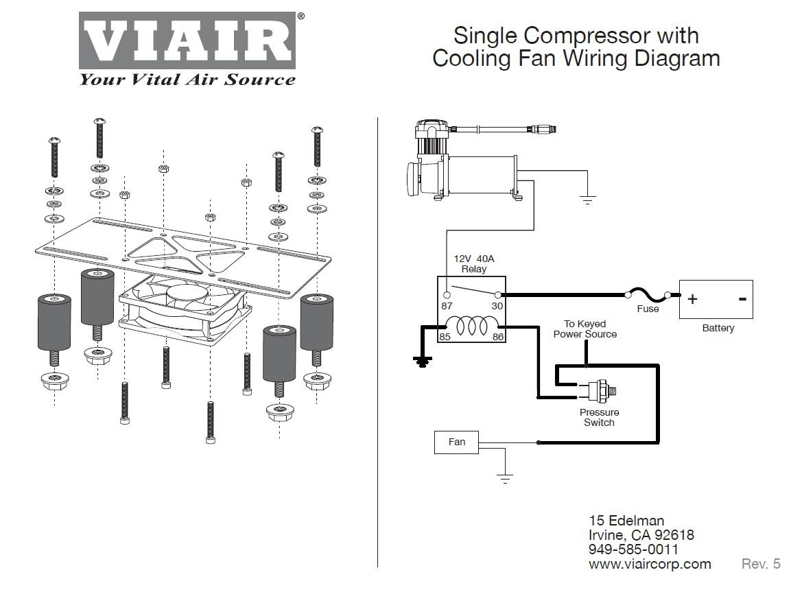 61nAvLUPa7L._SL1153_ amazon com viair 95820 cooling fan vibration isolator kit with viair compressor wiring diagram at readyjetset.co