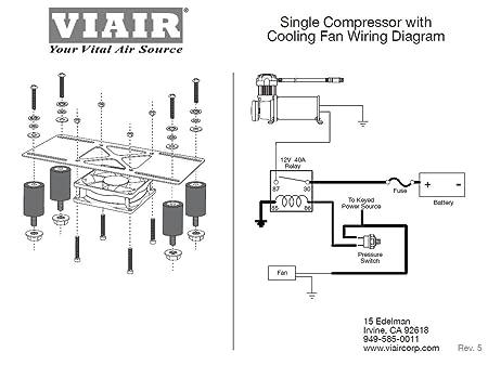 amazon com viair 95820 cooling fan vibration isolator kit amazon com viair 95820 cooling fan vibration isolator kit mounting hardware bracket automotive