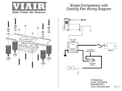 viair compressor wiring diagram viair image wiring amazon com viair 95820 cooling fan vibration isolator kit on viair compressor wiring diagram